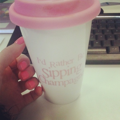 Travel Mug, Champagne, Gel Nails
