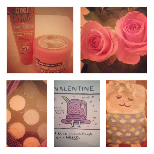 Soap and Glory, Pink Roses, Collection, Purple Smokey Eyeshadow, Valentines, Card, Sheep, Snuggle Toy